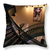 Curly's Stairway Throw Pillow
