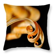 Curlz Throw Pillow