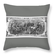 Currency: Two Dollar Bill Throw Pillow