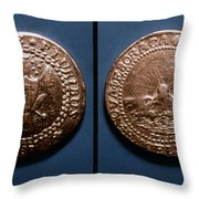 Currency: U.s. Coin, 1787 Throw Pillow