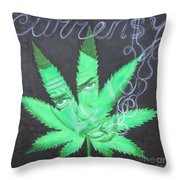 Currensy Throw Pillow