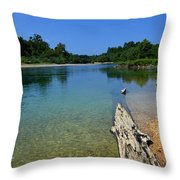 Current River Throw Pillow by Lena Wilhite