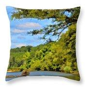 Current River Mo - Digital Paint Throw Pillow