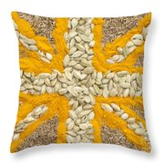 Curried Flag Throw Pillow