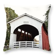 Currin Covered Bridge Throw Pillow