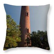 Currituck Beach Lighthouse Throw Pillow