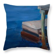 Currituck Dock Throw Pillow