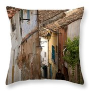 Currruca Slope In Calahorra Throw Pillow