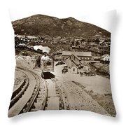 Curry Mine.virginia City Nevada.1865 Throw Pillow