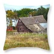 Curtain In The Window Throw Pillow