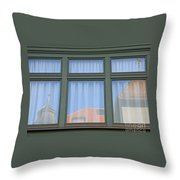 Curtained Reflection Throw Pillow