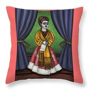 Curtains For Frida Throw Pillow