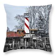 Curtin's Wharf Burlington New Jersey Throw Pillow