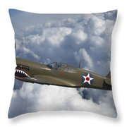 Curtiss P-40 Warhawk Flying Tigers Throw Pillow
