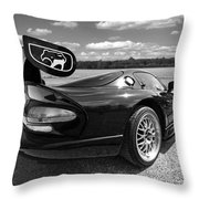 Curvalicious Viper In Black And White Throw Pillow