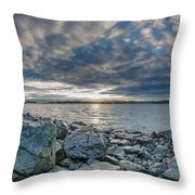 Curve Off The Bay Throw Pillow