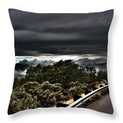 Curve On The Road To Heaven  Throw Pillow