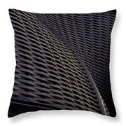 Curved Lattice Structure  Throw Pillow