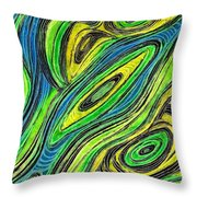 Curved Lines 5 Throw Pillow by Sarah Loft