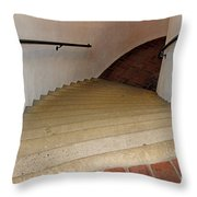 Curved Stairway At Brandywine River Museum Throw Pillow