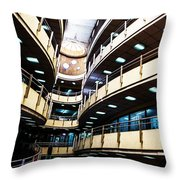 Curved Walkways Throw Pillow