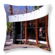 Curves Ahead Ocotillo Lodge Palm Springs Throw Pillow
