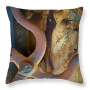 Curves And Lines II Throw Pillow by Stephen Anderson