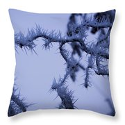 Curves And Spikes Throw Pillow