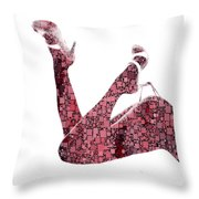 Curves And Squares Throw Pillow