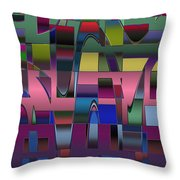 Curves And Trapezoids  Throw Pillow