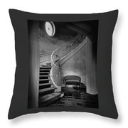 Curving Staircase In The Home Of  W. E. Sheppard Throw Pillow