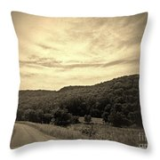 Curvy Road To Nowhere Throw Pillow by Garren Zanker