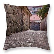 Cusco City Street Throw Pillow