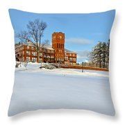 Cushing Academy In Winter Throw Pillow