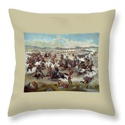 Custer's Last Charge Throw Pillow