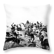 Custer's Last Fight, 1876 Throw Pillow