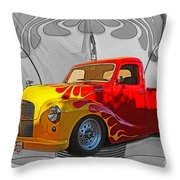 Custom Flames Throw Pillow