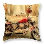 Custom Harley   Hdr Throw Pillow