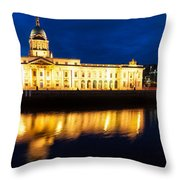 Custom House And International Financial Services Centre Throw Pillow