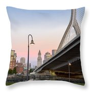 Custom House And Zakim Bridge Throw Pillow