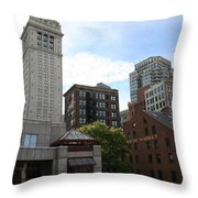 Custom House - Boston Throw Pillow