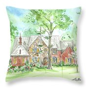 House Portrait Or Rendering Sample Throw Pillow