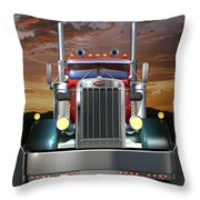 Custom Peterbilt Throw Pillow