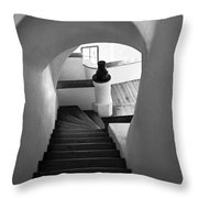 Custom Stairs To Heaven-dracula's Castle  Throw Pillow