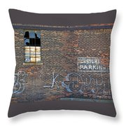 Customer Parking Throw Pillow