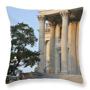 Customs House Steps Throw Pillow
