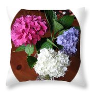 Cut Hydrangeas Throw Pillow