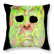 Cut Out Mask Throw Pillow