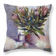 Cut Proteas Throw Pillow
