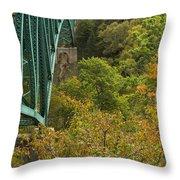 Cut River Bridge 1 A Throw Pillow